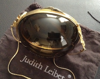 Judith Leiber Vintage 60's-70's Lucite Egg Purse with Chain strap