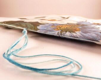 Bachelor's Button Art Journal - Recycled journal