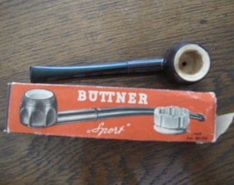 Vintage German, Buttner Pipe- free shipping