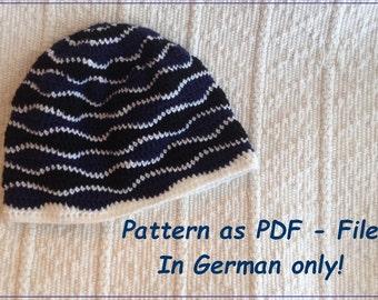 Pattern for crochet Brain Waves Beanie (in GERMAN only!)