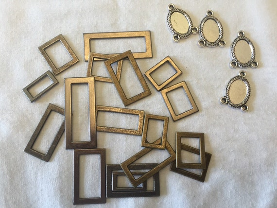 tiny metal frames polymer clay supplies scrapbooking frames mini frames small frames
