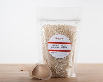 Dry Skin Bath Salts, Moisturizing Bath Soak, Dry Skin Salts, Organic Bath Soak