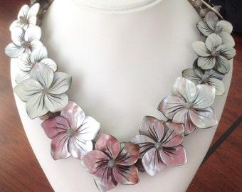 Flower Shell Pearl Neclace