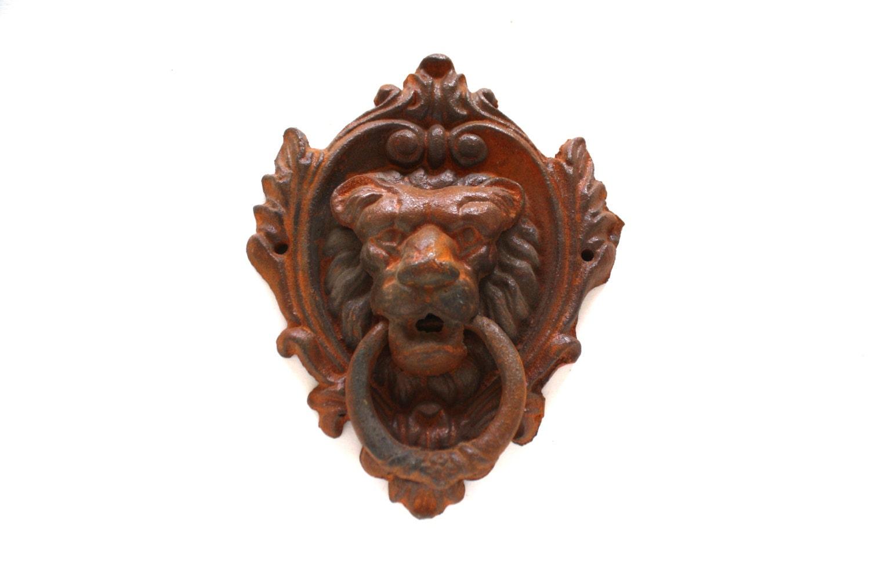 Lion head door knocker cast iron lion head door knocker - Lion face door knocker ...