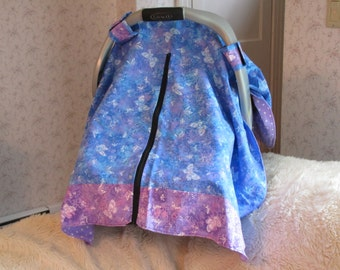 Carseat Canopy with zipper