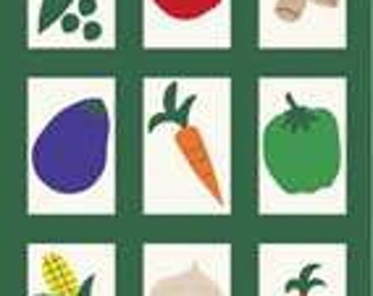 Vegetable Quilt Handcrafted Applique House Flag