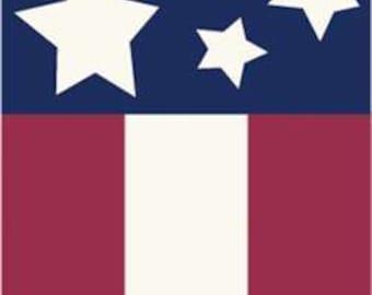 Stars & Stripes Handcrafted Applique Garden Flag