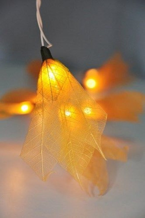 20 FLOWER Fairy String Lights YELLOW For Wedding by AbsintheArts