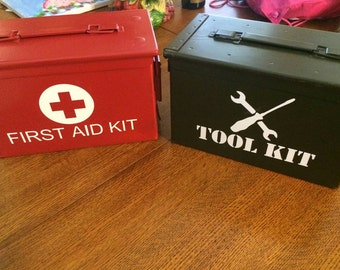 First Aid Kit or Tool Kit Decal
