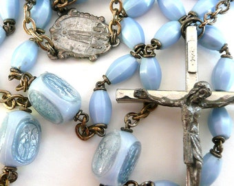 Vintage Italian Our Lady of Fatima Rosary, Mysteries of the Rosary