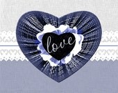 Love Digital Hearts, Printable Clipart of 8 Colorful Digital Love Hearts With Transparent Background, Instant Download