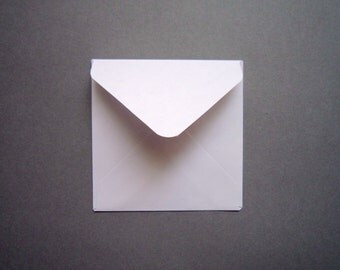 2x2 3x3 4x4 5x5 6x6 card envelopes/ White Square Envelope/ Various Square Envelope Sizes / Set of 20