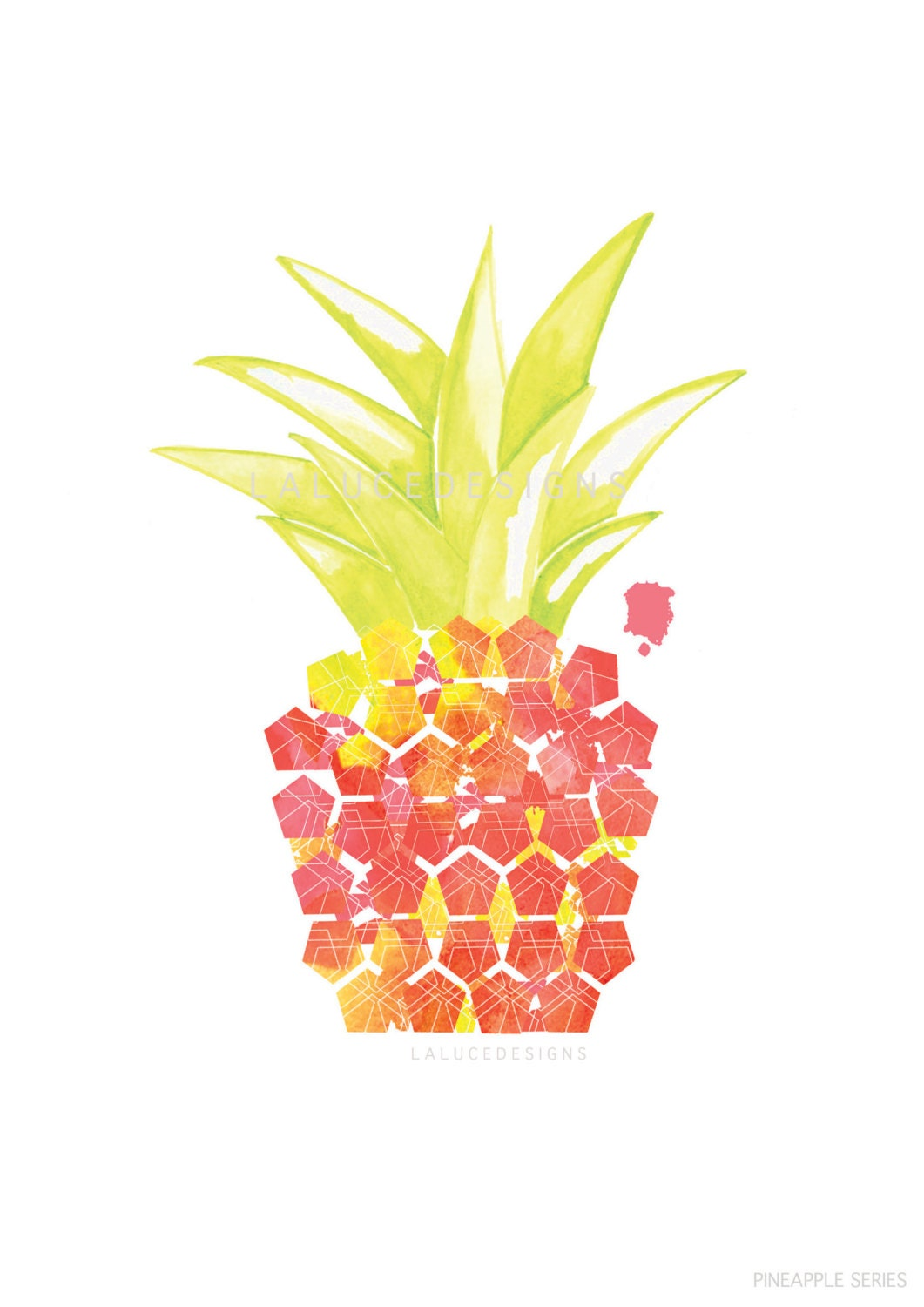 Tropical Pineapple Print Pink