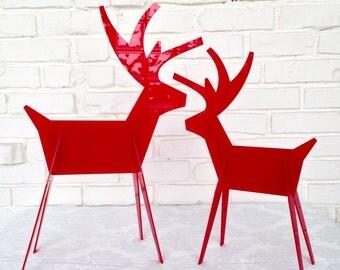 Christmas Reindeer - Contemporary Holiday Decor