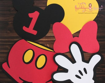 Mickey Mouse shapes, Mickey mouse Minnie Mouse birthday shapes