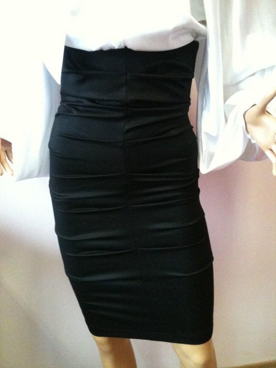 black high waist pencil skirt knee tight by studiomariya