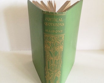 1904 Beautiful Poetical Quotations Book