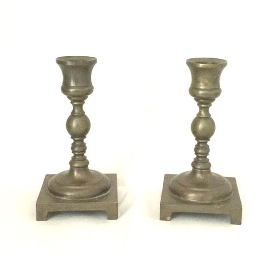 Vintage Brass Candlesticks 9