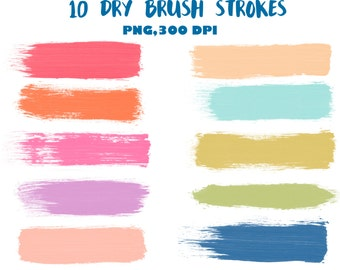 Brush stroke clipart | Etsy
