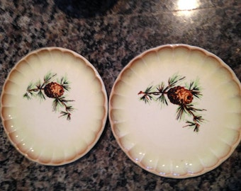 Two Pinecone Snack Plates