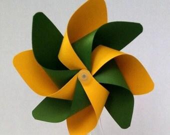 Pinwheel, Green & Yellow Pinwheel