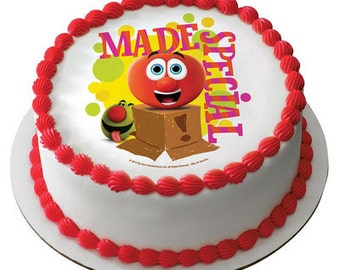 Veggie Tales Edible Cake or Cupcake Toppers - Choose Your Size