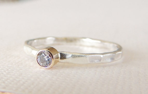 moissanite ring sterling silver ring 14k gold ring by luxuring
