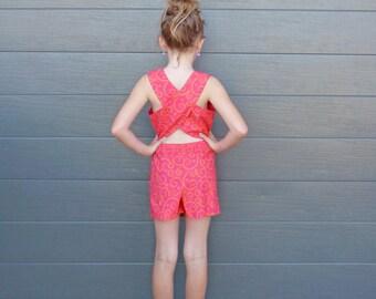 ON SALE - Children's Clothing - Girlswear - Girls Clothing - Girls Shorts - Kids Clothing - Girls Outfit  - Cotton - Skort