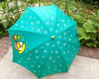 Vintage Sanrio Keroppi umbrella // Hello Kitty umbrella // Vintage Keroppi 90s // Sanrio vintage umbrella //