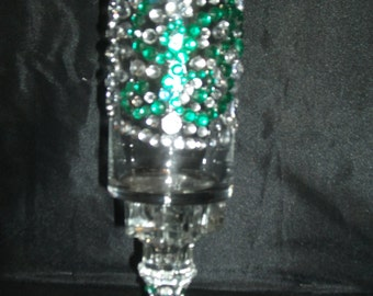 Green Gem Handcrafted Candleholder