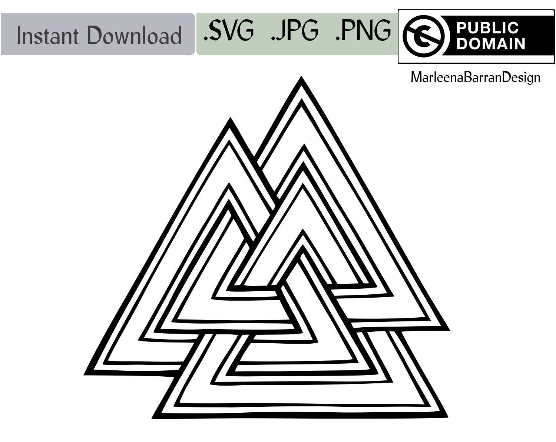 Valknot, Valknut, Tattoo Design, Free To Use Original