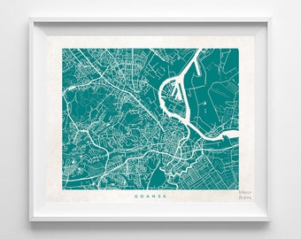 Gdansk Map, Poland Print, Gdansk Poster, Poland Art, Giclee Print, Dorm Decor, Dorm Decorations, Dorm Wall Decor, Back To School