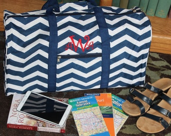 LARGE Monogrammed Duffle