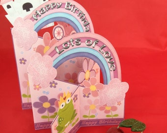 Princess fairytale castle girls birthday card