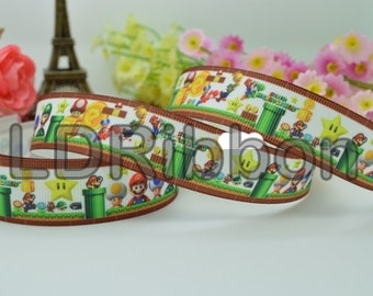 "7/8"" Mario Grosgrain Ribbon"