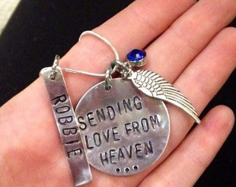In memory charm necklace