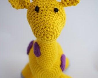 Crocheted giraffe