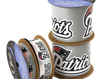 Offray NFL New England Patriots Ribbon, 4-pack of Ribbon