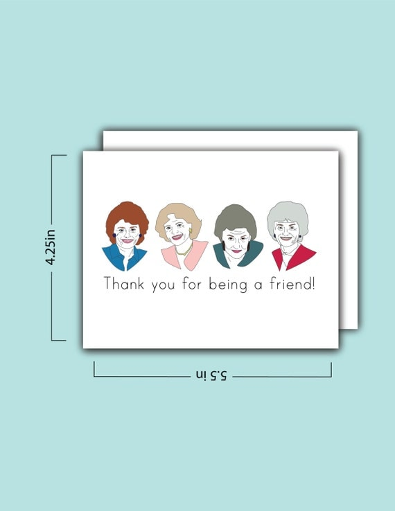 golden girls card thank you for being a friend shopswell