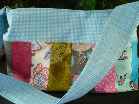 Multi-Color Baby Blu Sleek Purse Diaper Bag