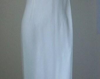 "On Sale! Studio NY - club/wear stunning Sleeveless Dress S18 white length 38"""