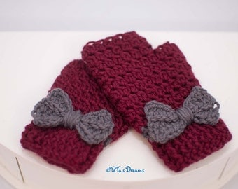 Child-size Fingerless Mittens Hand Crocheted