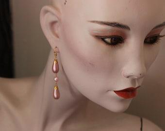 Rosy Drops Earrings