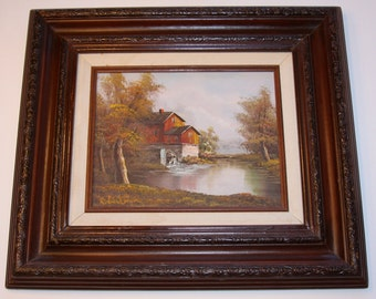 SALE!!! Antique Signed Oil Painting. This Beautiful Oil Painting Is Now 15% Off!