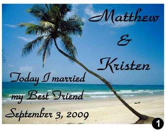 15 Personalized BEACH WEDDING MAGNETS ~ Free shipping