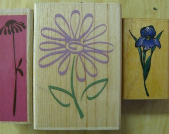 3 flower stamps