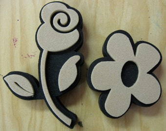 2 flower stamps