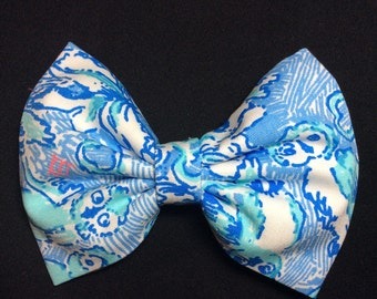 """LILLY PULITZER """"Kappa Kappa Gamma"""" hair bow! Custom, Made to order, hand made hair bow for girls, women, and kids!"""