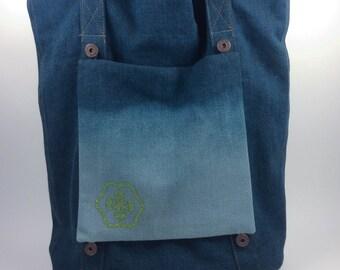 BIG SALE, Blue Denim, Tote Bag, Customizable Bag With Removable Pockets, Casual Tote, Denim Bag, Denim Shoulder Bag, School Bag, Denim Purse