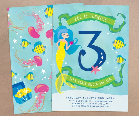 Under the sea birthday party printable invitation evite e vite il570xn filmwisefo